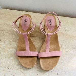 Style & Co pink suede Sandals size 8.5M
